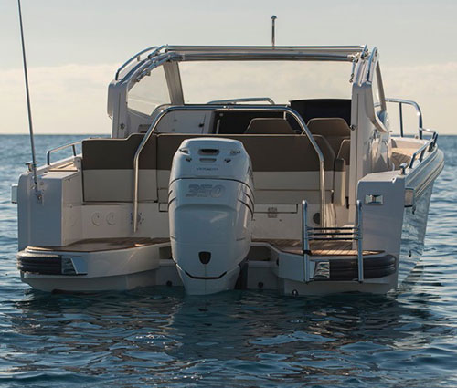 Fitted with outboard